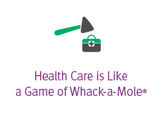 Health care is like a game of whack a mole