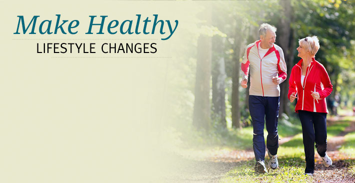 make healthy lifestyle changes