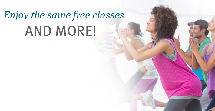 Enjoy the same free wellness classes and more