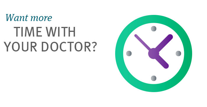 Want more time with your doctor?