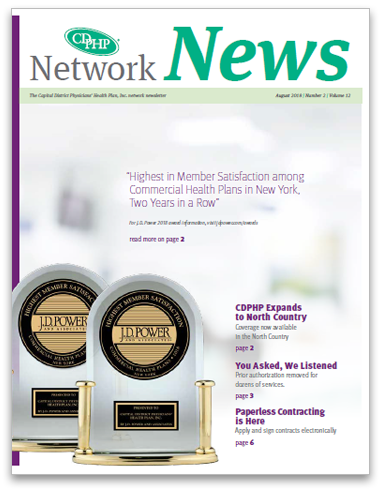 CDPHP network news cover - August 2018