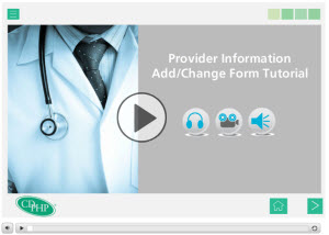 Provider information change form tutorial