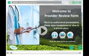 View the Provider Review Form tutorial