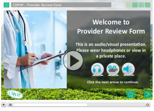 provider review form tutorial