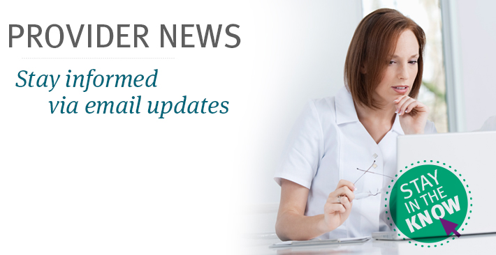 provider news and email updates